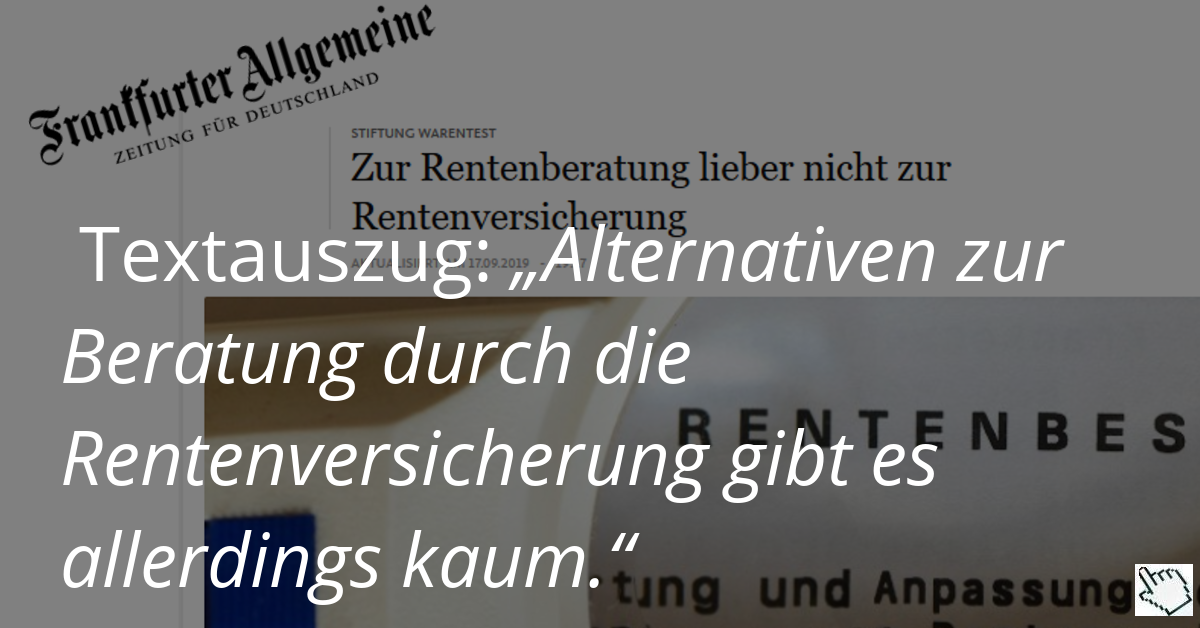 Chancenverwertung durch Presse-Artikel